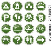 Outdoor Park Nature Icon Set