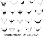 set of smiling mouth | Shutterstock . vector #247310464