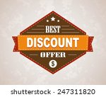 vector vintage sale label and... | Shutterstock .eps vector #247311820