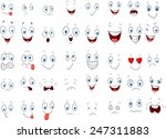 cartoon of various face... | Shutterstock .eps vector #247311883