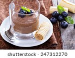 healthy avocado chocolate... | Shutterstock . vector #247312270