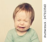 little baby crying | Shutterstock . vector #247313560