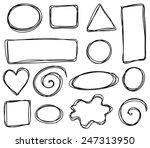 vector sketch frames | Shutterstock .eps vector #247313950