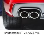 chrome exhaust pipe of red... | Shutterstock . vector #247326748