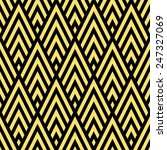 Seamless Black And Gold Rhombic ...