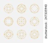 Set Of Geometric Shapes ...