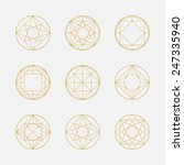 set of geometric shapes ... | Shutterstock .eps vector #247335940