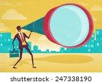 businessman looks through his...   Shutterstock . vector #247338190