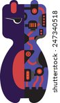 the robotic bear character | Shutterstock .eps vector #247340518