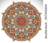 mandala. vintage decorative... | Shutterstock .eps vector #247342603