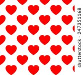 seamless pattern with hearts... | Shutterstock . vector #247351168
