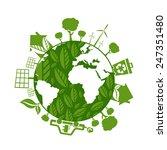 illustrations of concept earth... | Shutterstock .eps vector #247351480