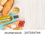 White Wine  Cheese And Bread O...