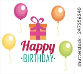 happy birthday design  vector... | Shutterstock .eps vector #247356340