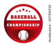 baseball game design  vector... | Shutterstock .eps vector #247356910