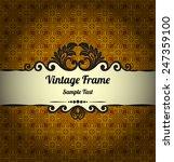vintage background | Shutterstock .eps vector #247359100