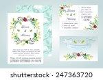 watercolor wedding invitation   ... | Shutterstock .eps vector #247363720