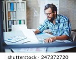modern businessman in... | Shutterstock . vector #247372720