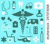 medical icons set great for any ... | Shutterstock .eps vector #247373068