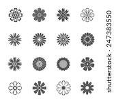 flower flat pattern icons  | Shutterstock .eps vector #247383550