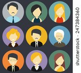 character icons of  business... | Shutterstock .eps vector #247384360