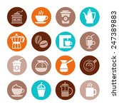 colorful coffee icon set on... | Shutterstock .eps vector #247389883