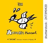 hand drawn animal illustration  ... | Shutterstock .eps vector #247390420