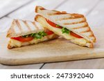 sandwich toast grilled with... | Shutterstock . vector #247392040