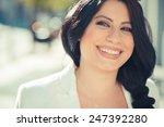 beautiful long black hair... | Shutterstock . vector #247392280