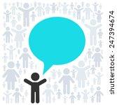 vector concept   idea. people... | Shutterstock .eps vector #247394674