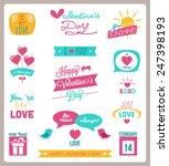 valentine s day set   labels ... | Shutterstock .eps vector #247398193