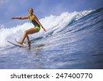 Surfer Girl On Amazing Blue...