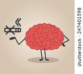 brain character   no smoking | Shutterstock .eps vector #247401598