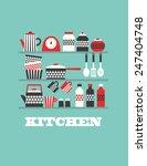 Kitchen Card Design. Vector...