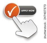 apply now button with hand... | Shutterstock .eps vector #247407373