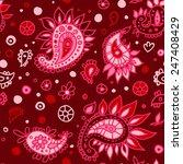 pattern of eastern cucumbers ... | Shutterstock .eps vector #247408429