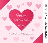 february 14 happy valentines... | Shutterstock .eps vector #247410040