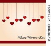 february 14 happy valentines... | Shutterstock .eps vector #247410088