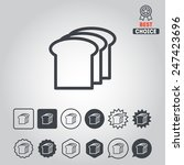 set of icons with fast food for ... | Shutterstock .eps vector #247423696