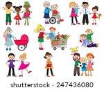 illustration of some family... | Shutterstock . vector #247436080