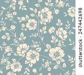 seamless monochrome floral...