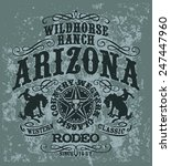 arizona wild horse  rodeo ... | Shutterstock .eps vector #247447960