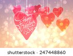 happy valentines day against... | Shutterstock . vector #247448860