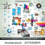 Infographic teamwork Mega Collection: brainstorming icons with Flat style. A lot of design elements are included: computers, mobile devices, desk supplies, stats,graphs, sheets,documents and so on | Shutterstock vector #247450894