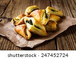 spinach and cheese puff... | Shutterstock . vector #247452724