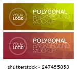 two horizontal polygonal banners | Shutterstock .eps vector #247455853