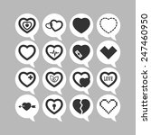 set of simple icons with heart... | Shutterstock .eps vector #247460950