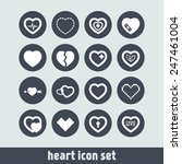 set of simple icons with heart... | Shutterstock .eps vector #247461004