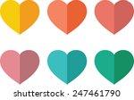heart icon set | Shutterstock .eps vector #247461790