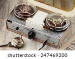 vintage portable tape recorder... | Shutterstock . vector #247469200